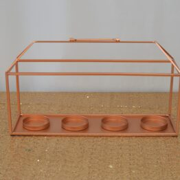 Copper Candle Holder Centrepiece