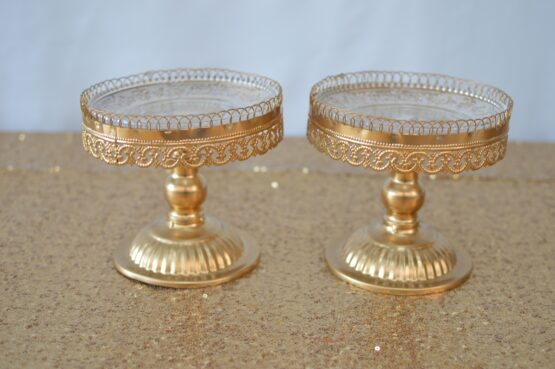 Lace Gold Cake Stand