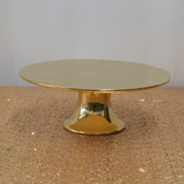 Low Gold Cake Stand
