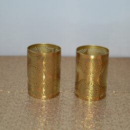 Gold Patterned Candle Holder