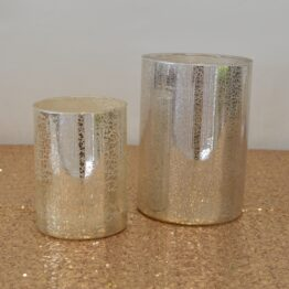 Cracked Foil Candle Set