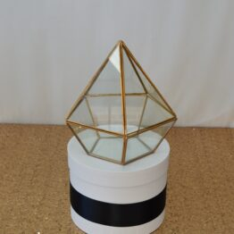 Small Gold Geometric Prism