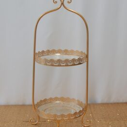 Gold Vintage Cake Stand