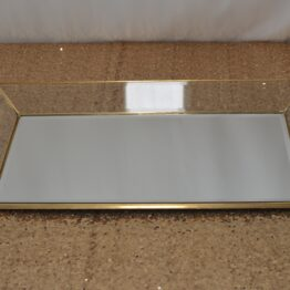 Large Gold Rectangle Platter