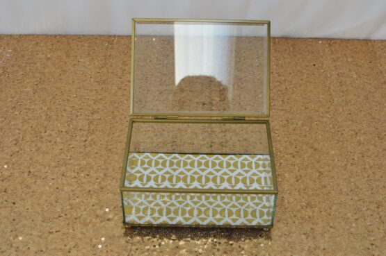 Patterned Glass Trinket Box