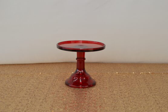 Small Red Mosser Cake Stand