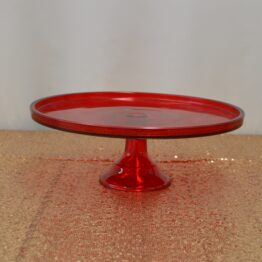 Red Mosser Cake Stand