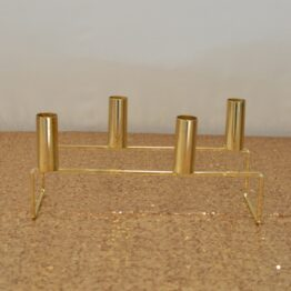 Tapered Gold Candle Holder