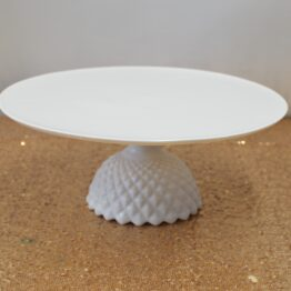 White Patterned Cake Stand