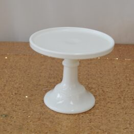 Small White Glass Cake Stand