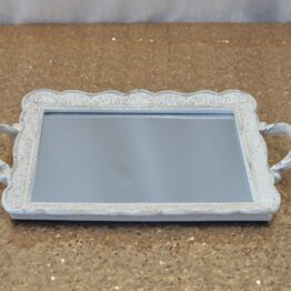 White Vintage Lace Tray