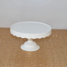 White Scalloped Cake Stand