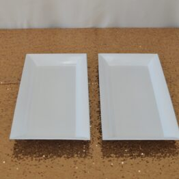 White Rectangle Platters