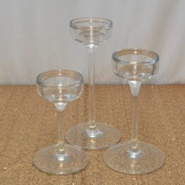 Glass Candle Holder Set