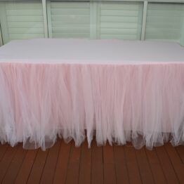 Light Pink Tulle Tablecloth