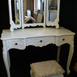 French Dresser with Mirror and Stool
