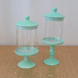 Mint Candy Jar