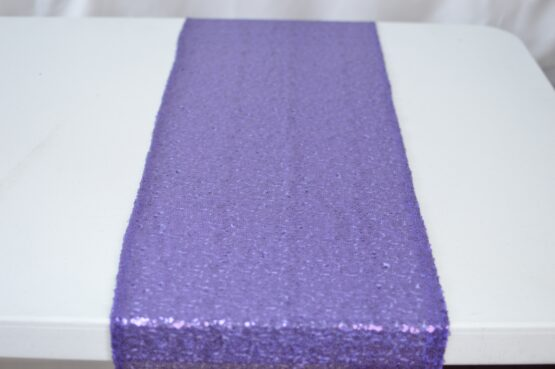 Purple Sequin Table Runner