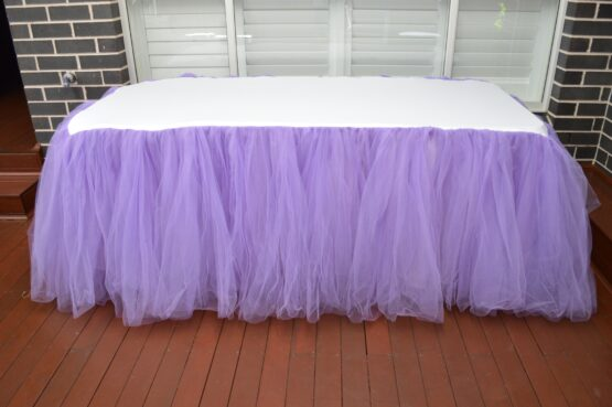 Purple Tulle Tablecloth