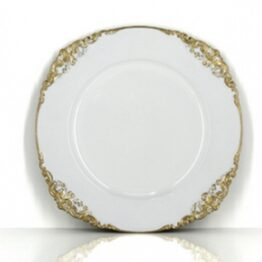 White Baroque Charger Plate