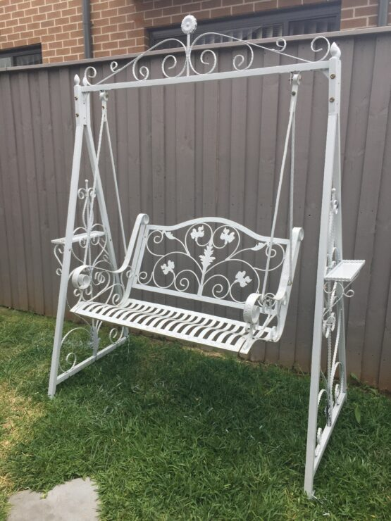 Ornate White Swing