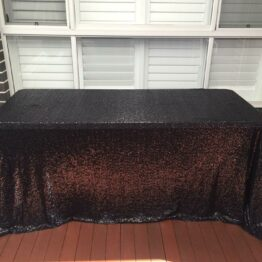 Black Sequin Tablecloth