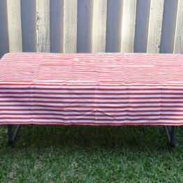 Childrens Red/White Tablecloth