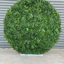 Round Foliage Wall Backdrop