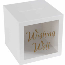 white wishing well box