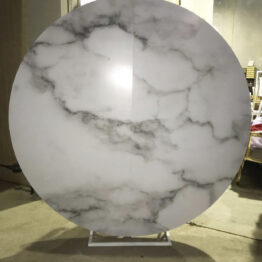Grey Round Marble Backdrop