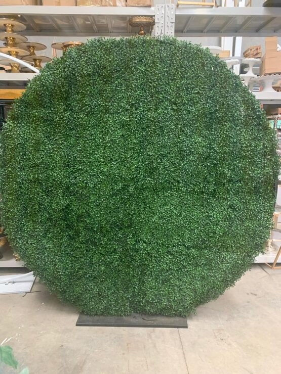 Round Hedge Wall