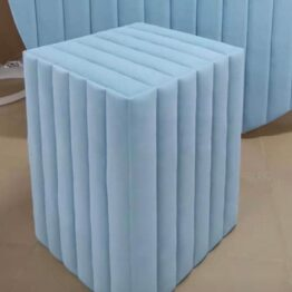 Light Blue Velvet Plinth