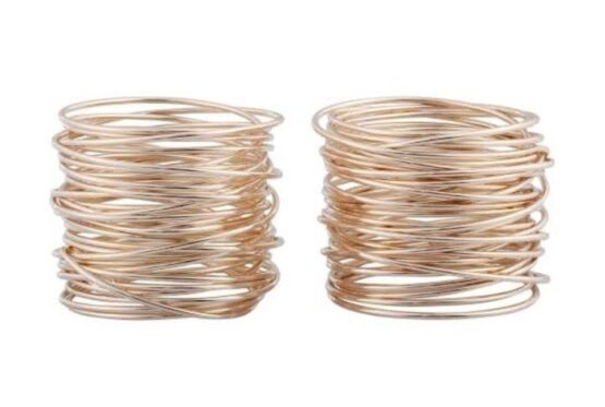 Rose Gold Napkin Rings
