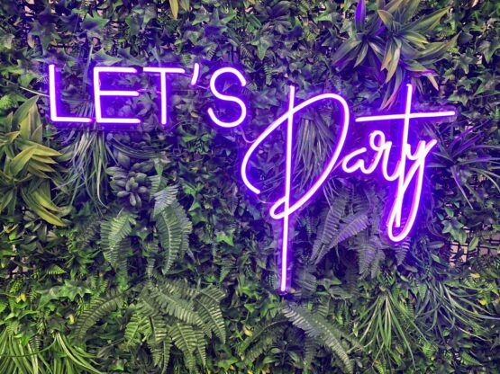 Let's Party Neon Sign