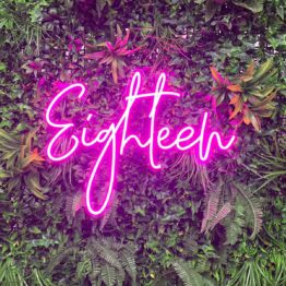 Eighteen Neon Sign