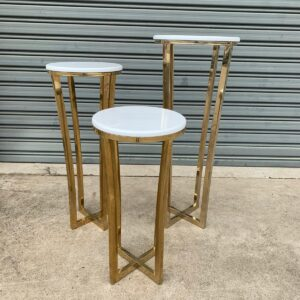 Luxe White/Gold Tables