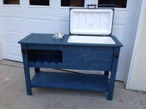blue-rustic-cooler-ice-chest-wine-rack-ice-bucket