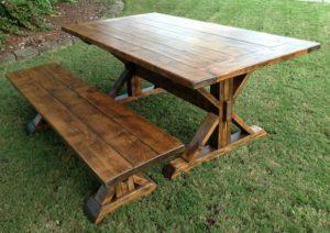 farmhouse-table-bench-outdoor-rustic-design
