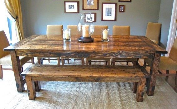 Farmhouse Table Bench And Chairs Rustic Woodworx