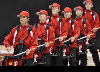 "Snares performing ""BK Crew""."