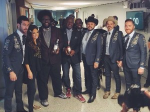 Scott with Kacey Musgraves and the band.