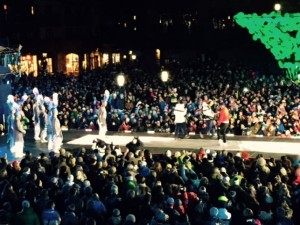 Blue Knights perform at the World Ski Cup in Vail