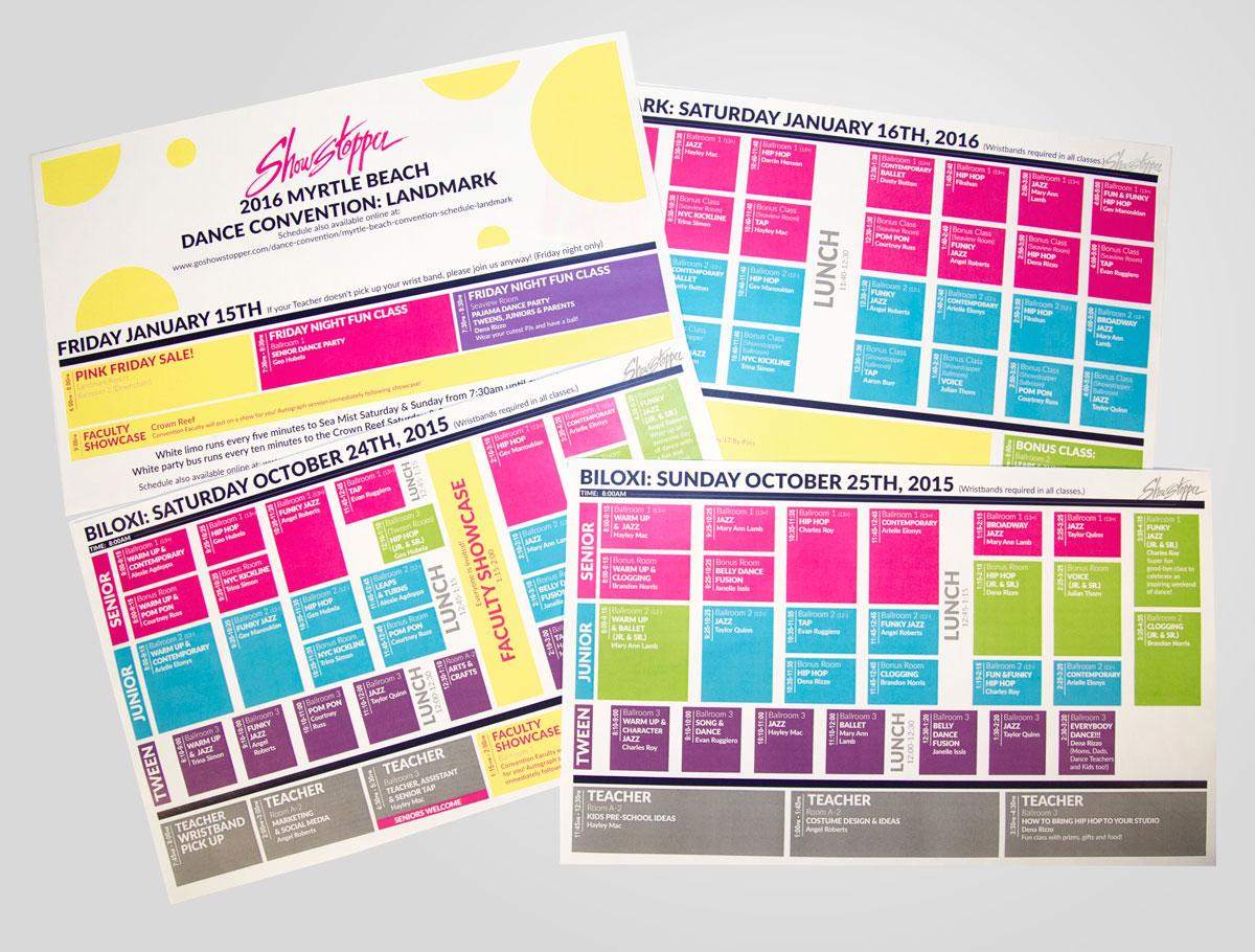 convention-Schedules