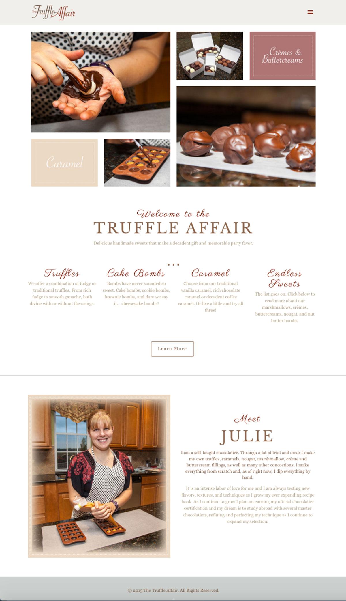 The Truffle Affair | Website Design