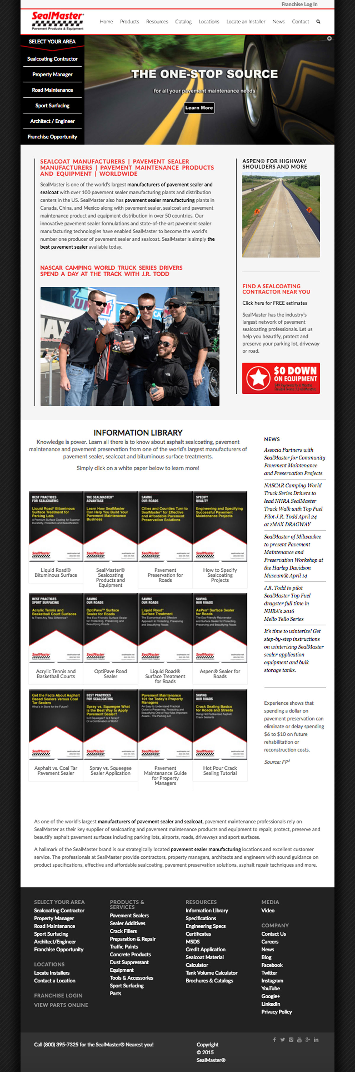 SealMaster | Website Design