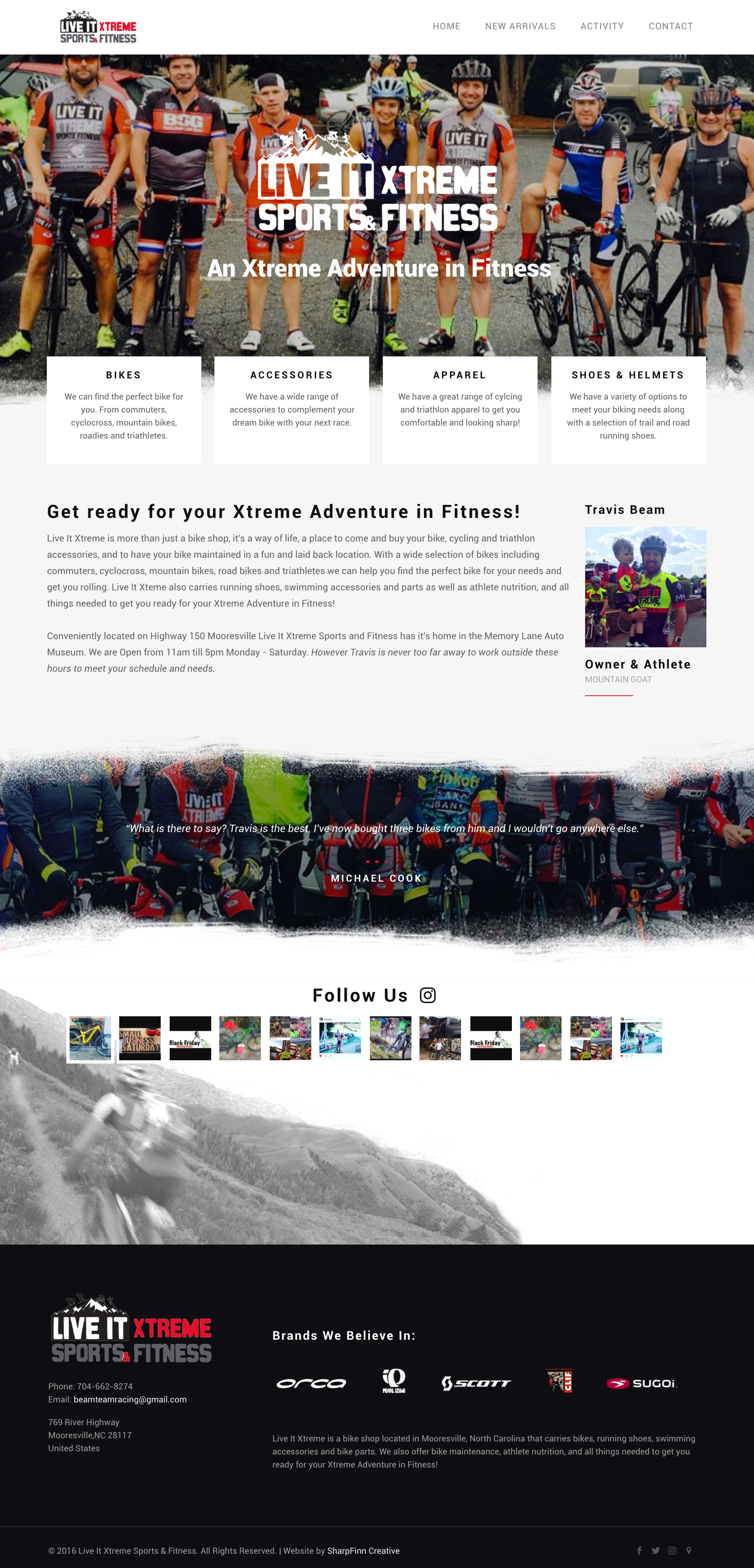 Live It Xtreme | Website Design