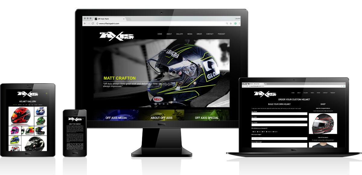 Off Axis Paint | Website Design