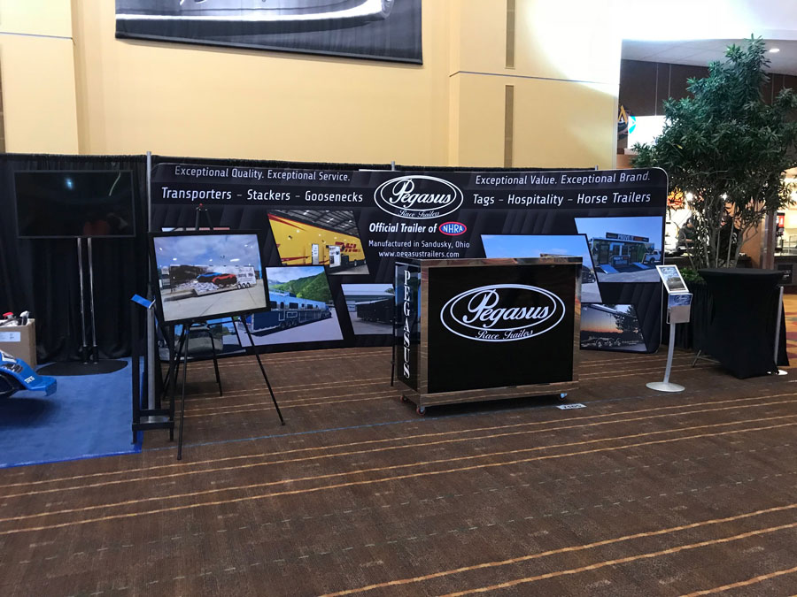 Tradeshow Booth Design for Pegasus Trailers