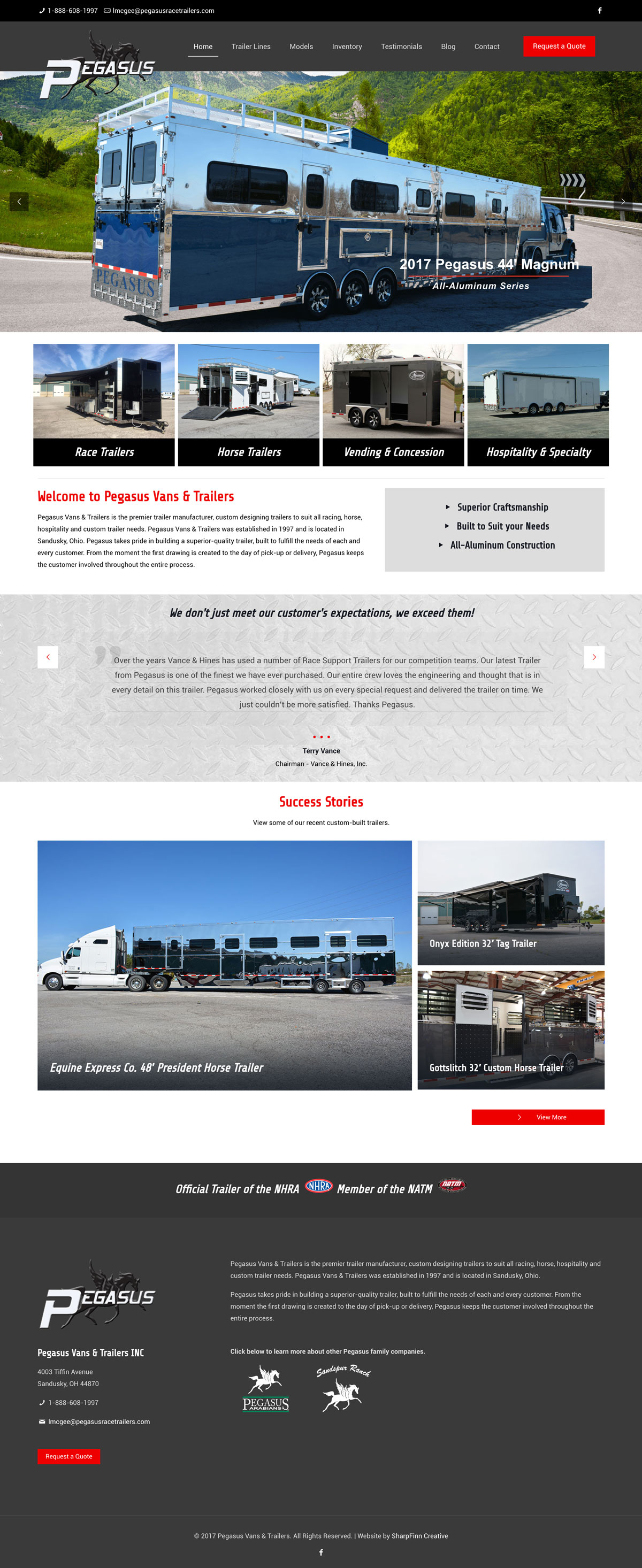 ThorSport Racing | Website Design