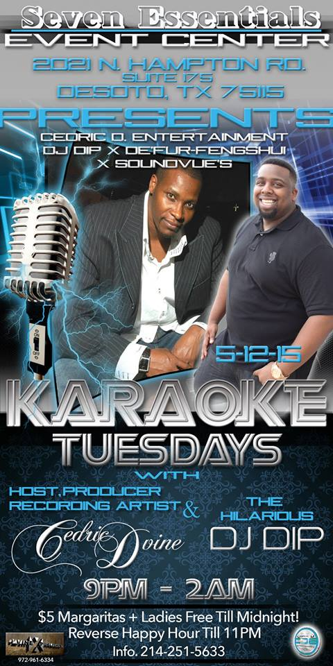 tuesday karaoke with ced devine at seven essentials event center in desoto